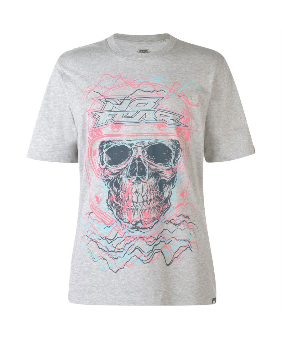 Image for No Fear Mens Core Graph T Shirt Short Sleeve Crew Neck Tee Top Clothing