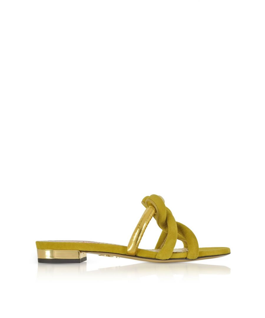 Image for CHARLOTTE OLYMPIA WOMEN'S OLS1857292310 GREEN SUEDE SANDALS