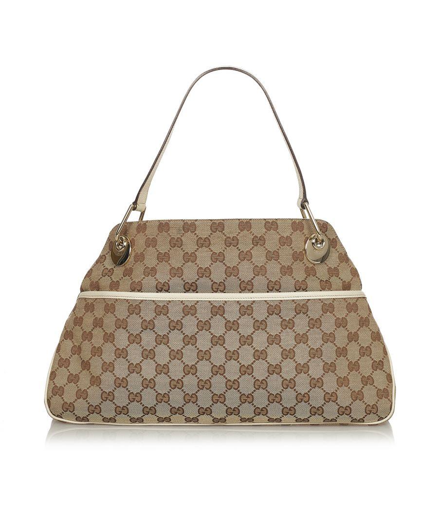 Image for Vintage Gucci GG Canvas Eclipse Shoulder Bag Brown