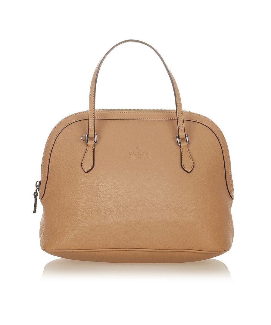 Image for Vintage Gucci Leather Satchel Brown