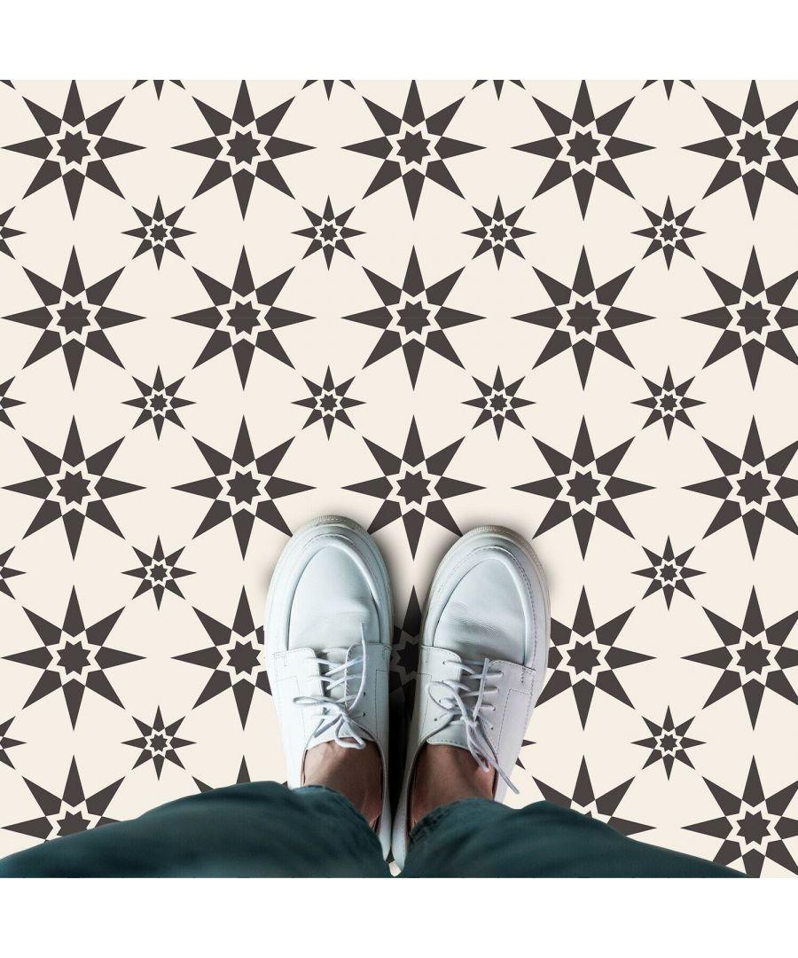 Image for Alabaster and Pebble Granada Heritage Tiles Floor Stickers 120cm x 60 cm, Kitchen, Bathroom, Living room, Self-adhesive
