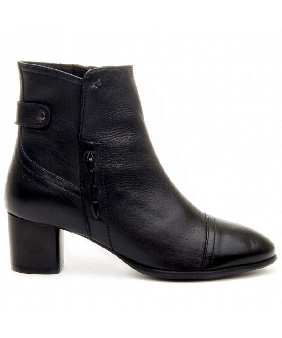 Image for Montevita Heeled Ankle Boot in Black