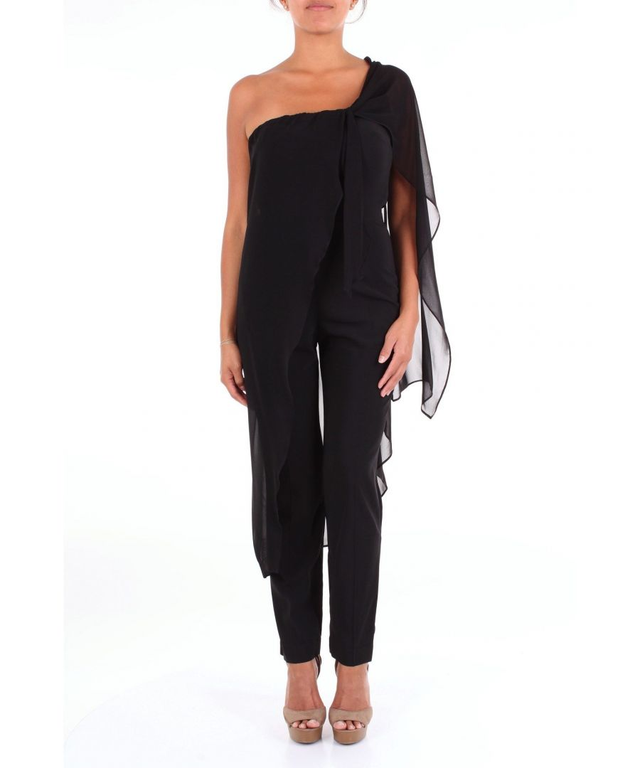 Image for JUCCA WOMEN'S 1Y1429480NERO BLACK VISCOSE JUMPSUIT