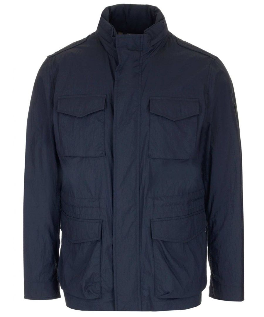 Image for WOOLRICH MEN'S WOOU0204MRUT20543989 BLUE POLYAMIDE COAT