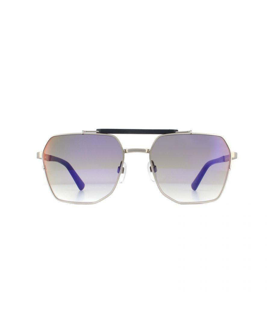 Image for Diesel Sunglasses DL0256 17U Matte Palladium Red Mirror
