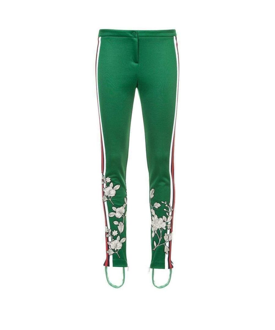 Image for Gucci Embroidered Jersey Stirrup Leggings