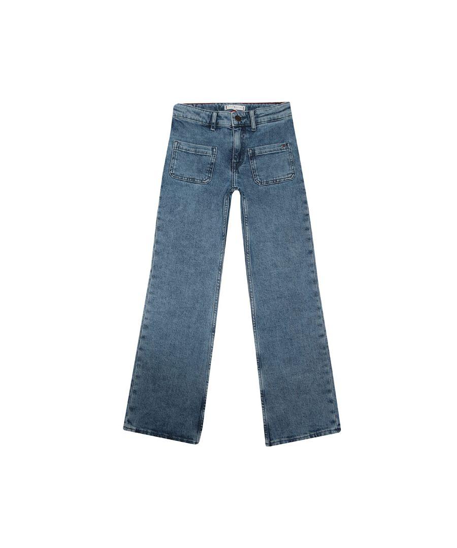 Image for Girls' Tommy Hilfiger Infant Slouchy Flared Leg Jeans In Denim