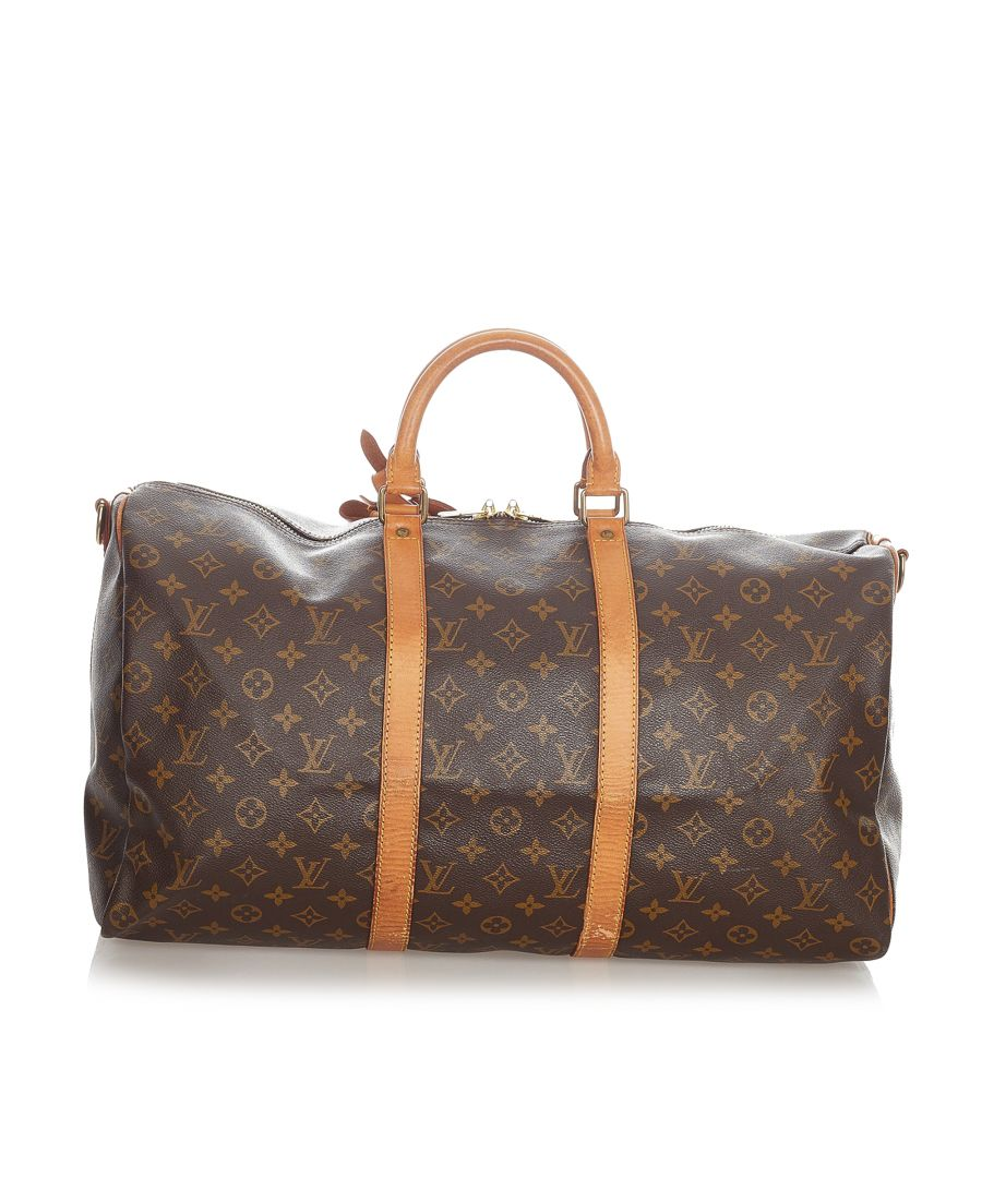 Image for Vintage Louis Vuitton Monogram Keepall Bandouliere 50 Brown