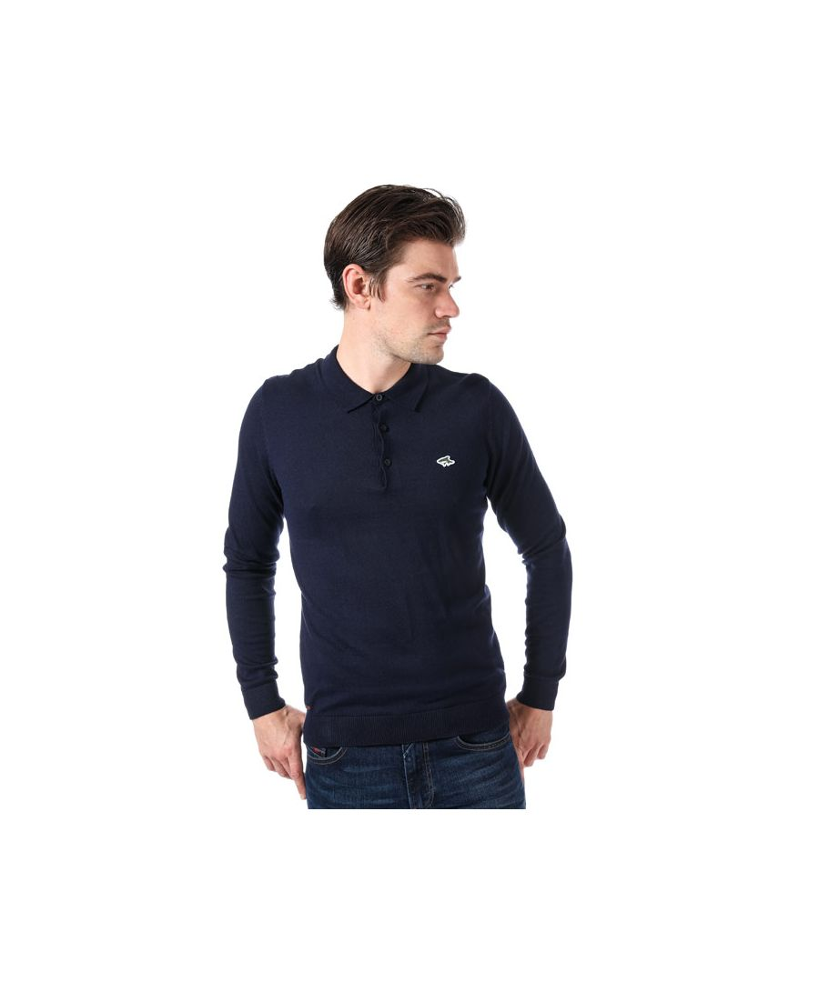 Image for Men's Le Shark Ditchling Long Sleeve Polo Shirt in Blue