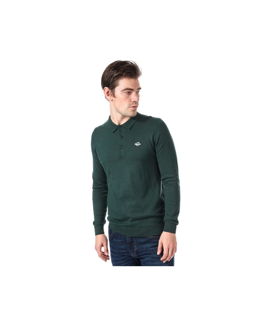 Image for Men's Le Shark Ditchling Long Sleeve Polo Shirt in Green