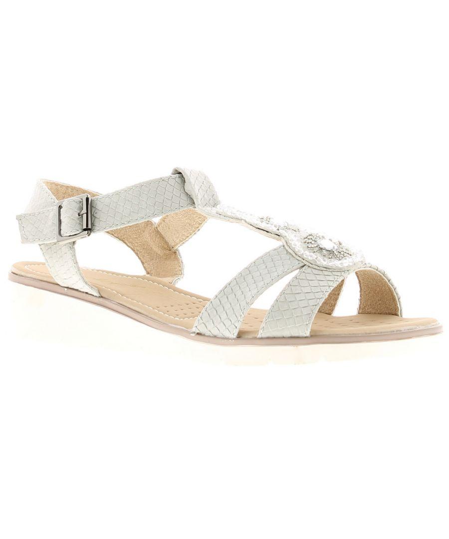Image for Ladies Women'ss Summer Sandal Open Toe Buckle Fastening