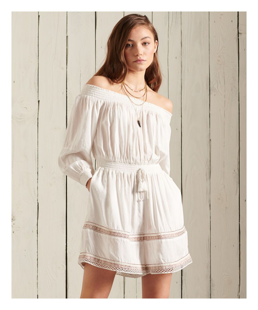 Image for SUPERDRY Ameera Off The Shoulder Playsuit