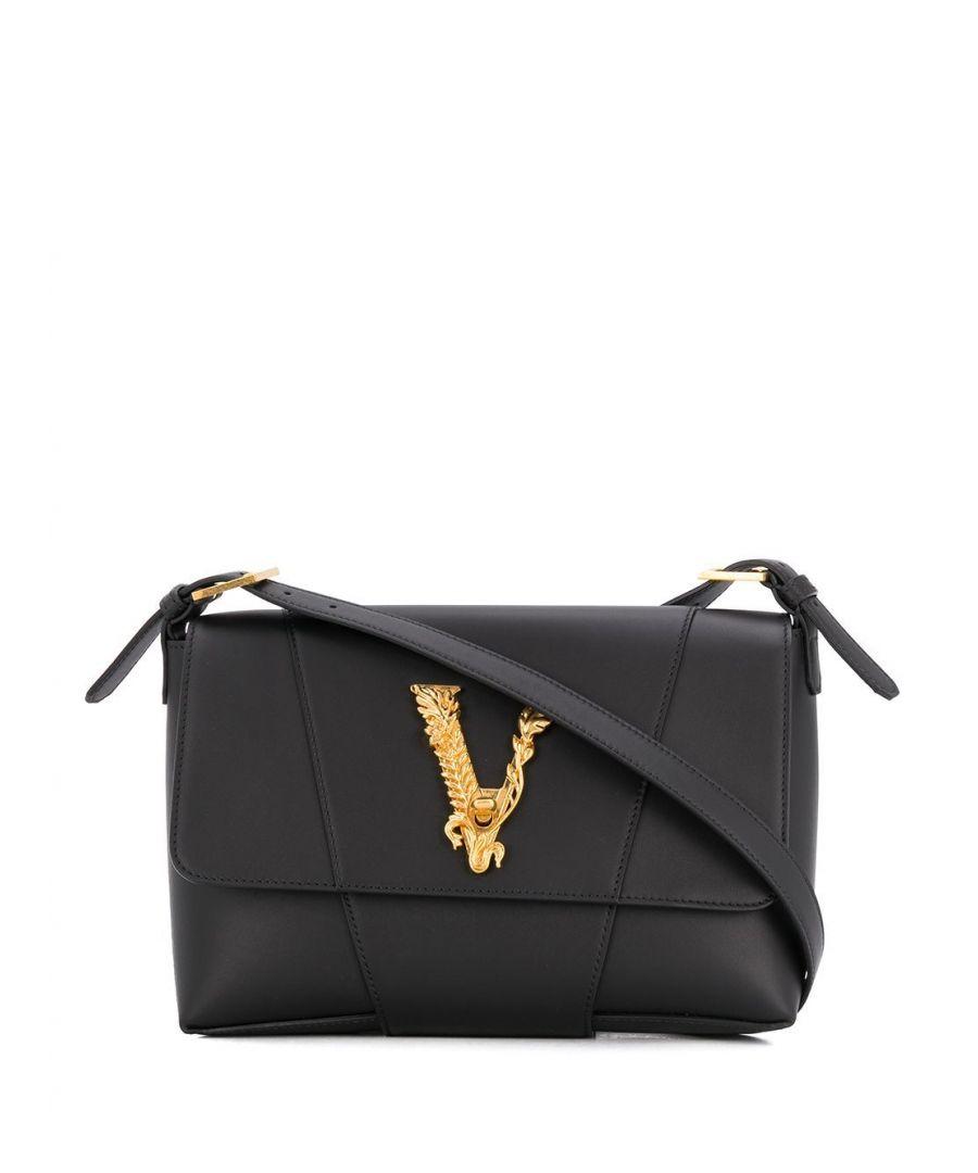 Image for VERSACE WOMEN'S DBFH489D5VITK41OT BLACK LEATHER SHOULDER BAG