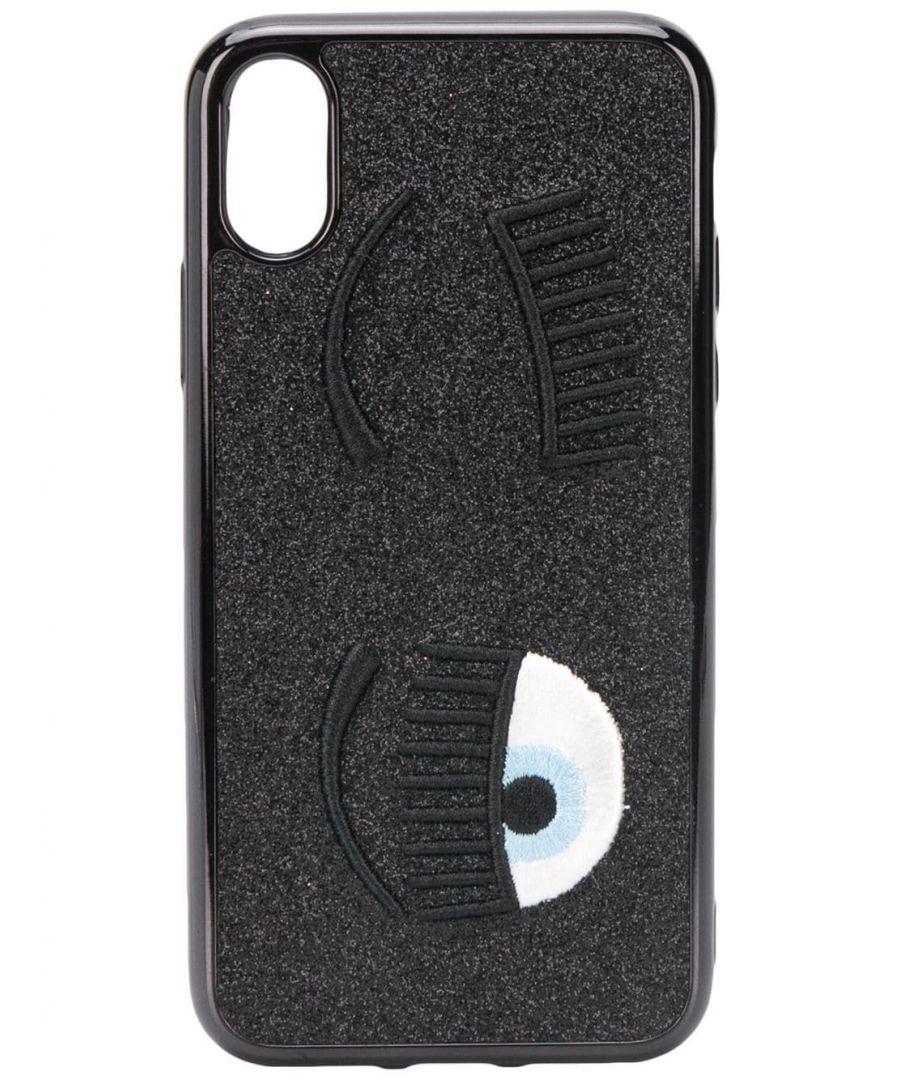 Image for CHIARA FERRAGNI WOMEN'S CFCIPXS044BLACK BLACK PVC COVER