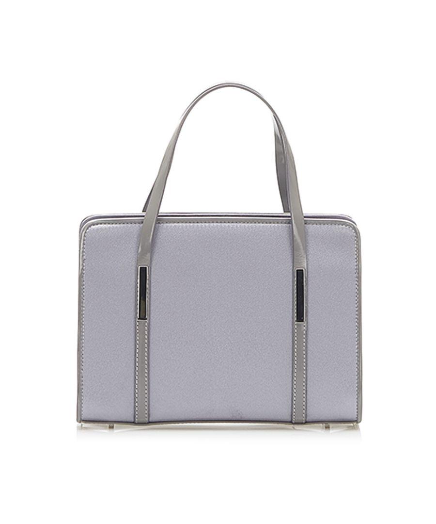 Image for Vintage Gucci Canvas Handbag Purple