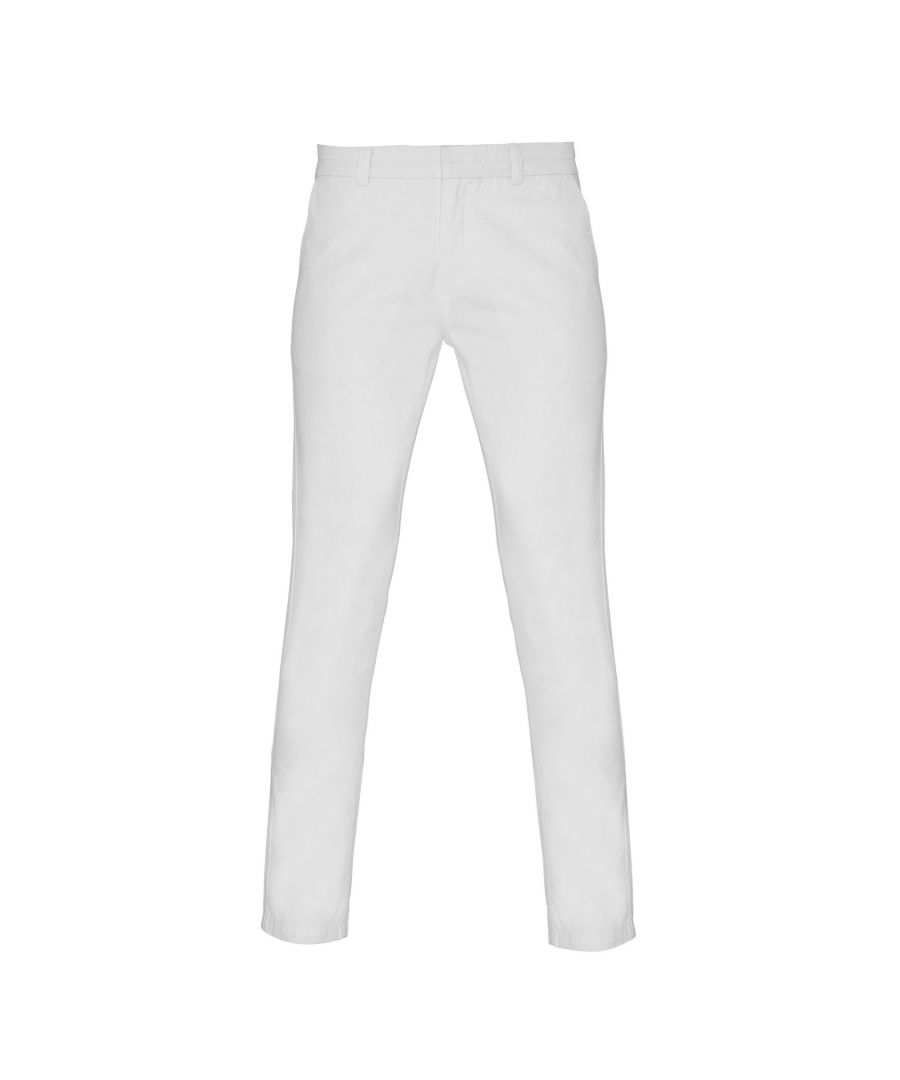 Image for Asquith & Fox Womens/Ladies Casual Chino Trousers (White)
