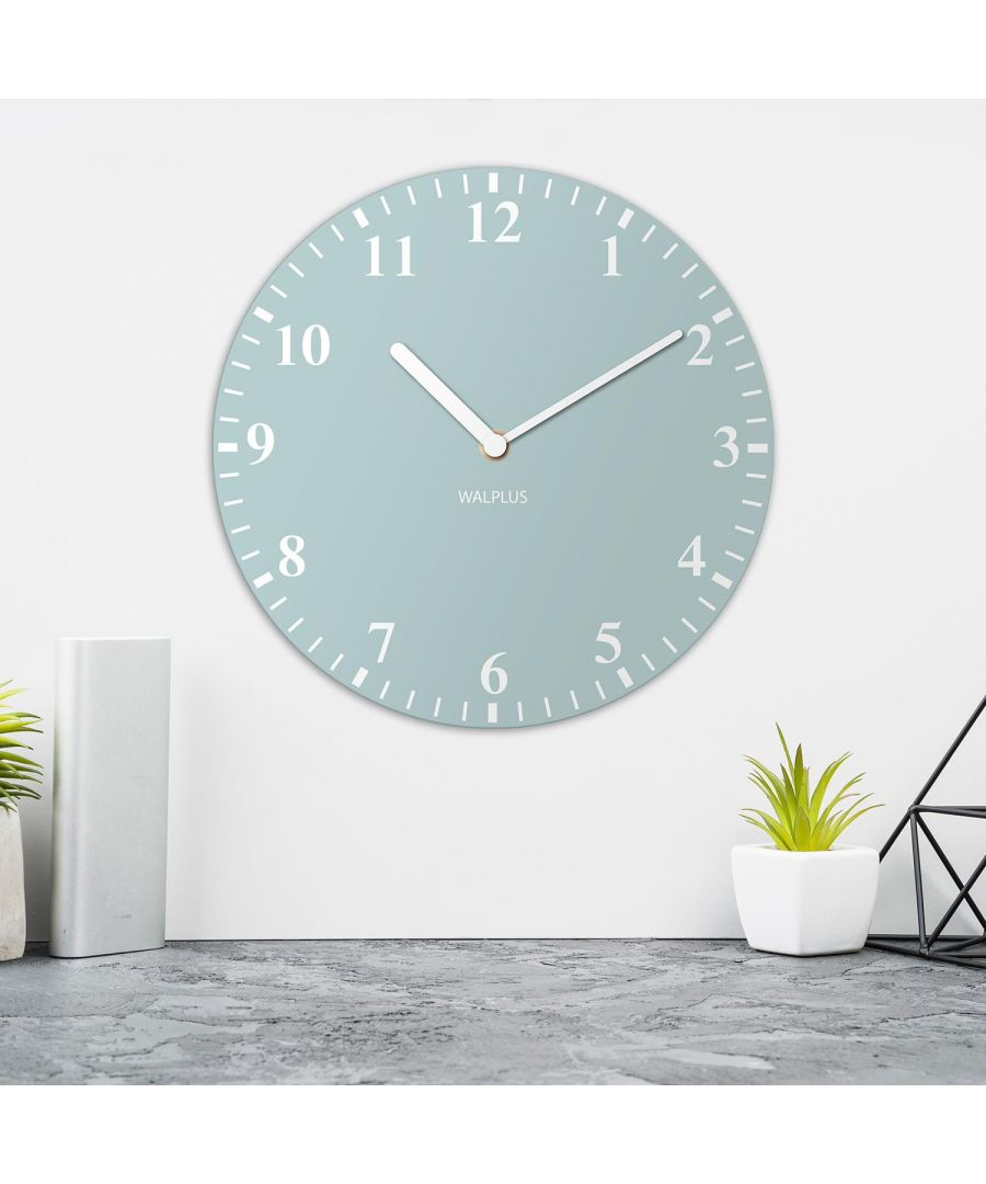Image for Duck Egg Blue Solid Colour Classic Wall Clock