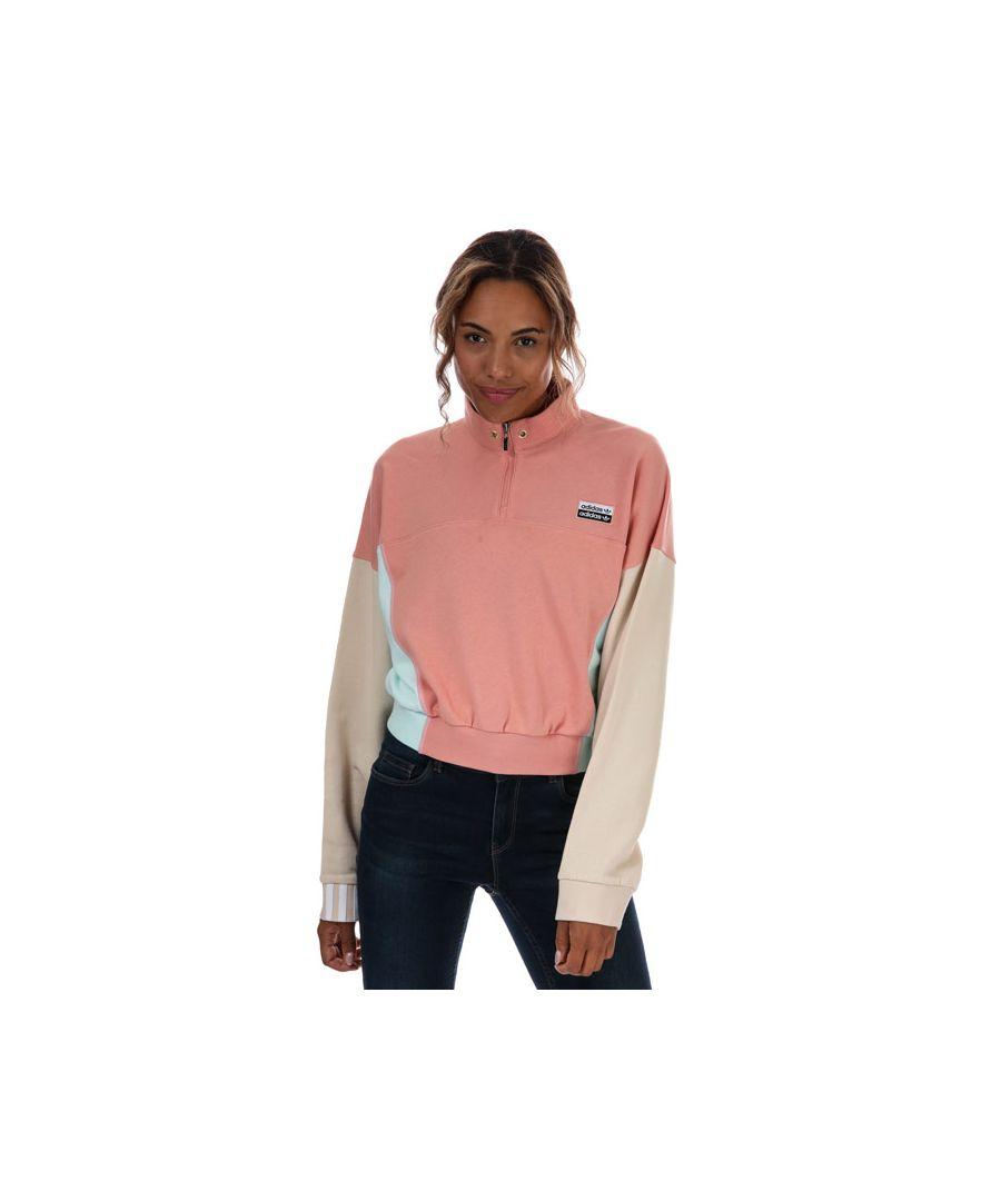 Image for Women's adidas Originals R.Y.V. Cropped Sweatshirt in Dusky Pink