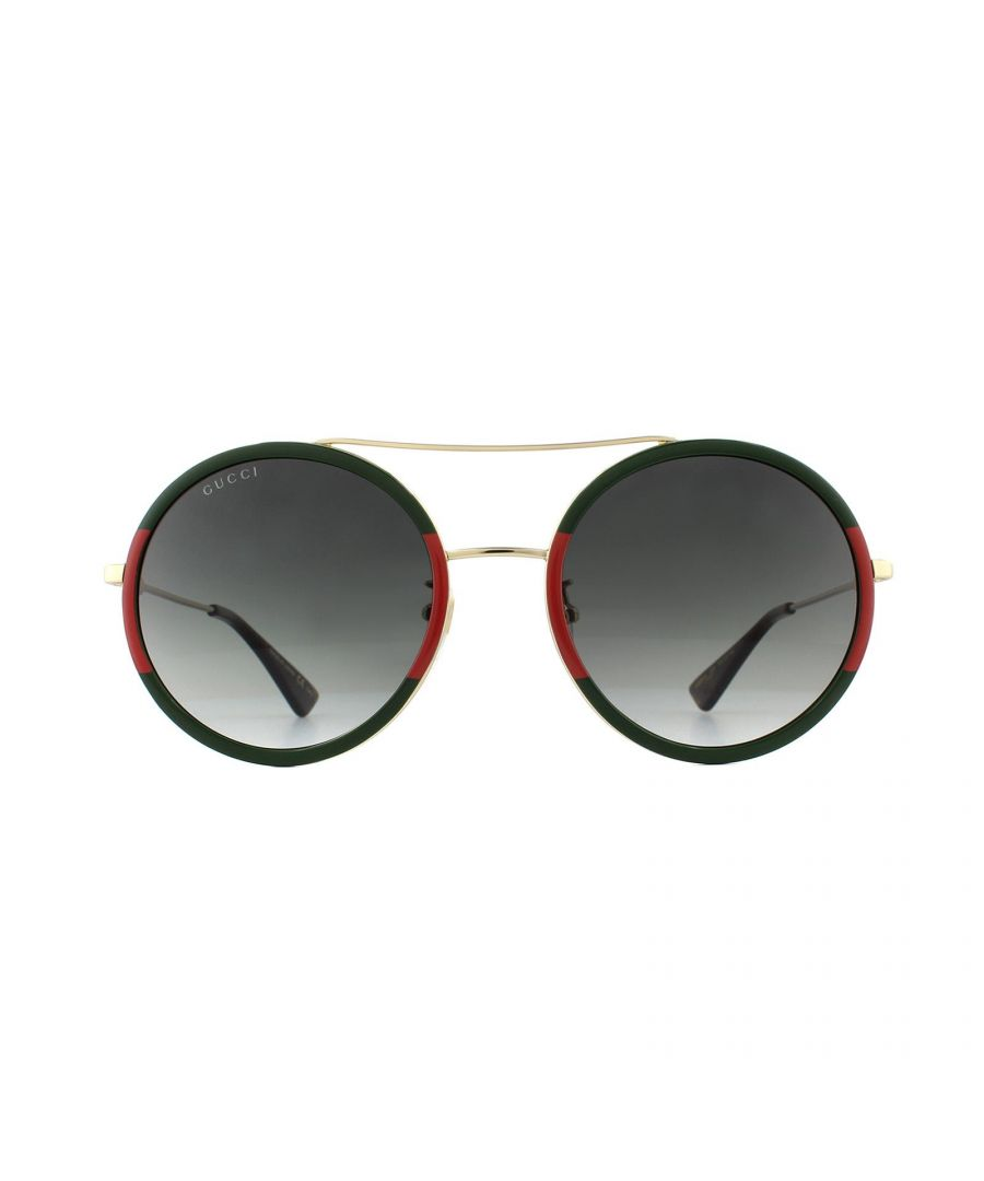 Image for Gucci Sunglasses GG0061S 003 Gold Green and Red Green Gradient