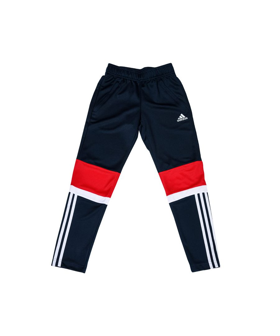 Image for Boy's adidas Junior Equipment Knit Pants Navy Red 11-12in Navy Red