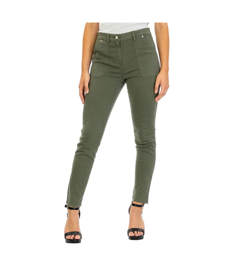 Image for Tommy Hilfiger Women's Pants Ankle Length Brown