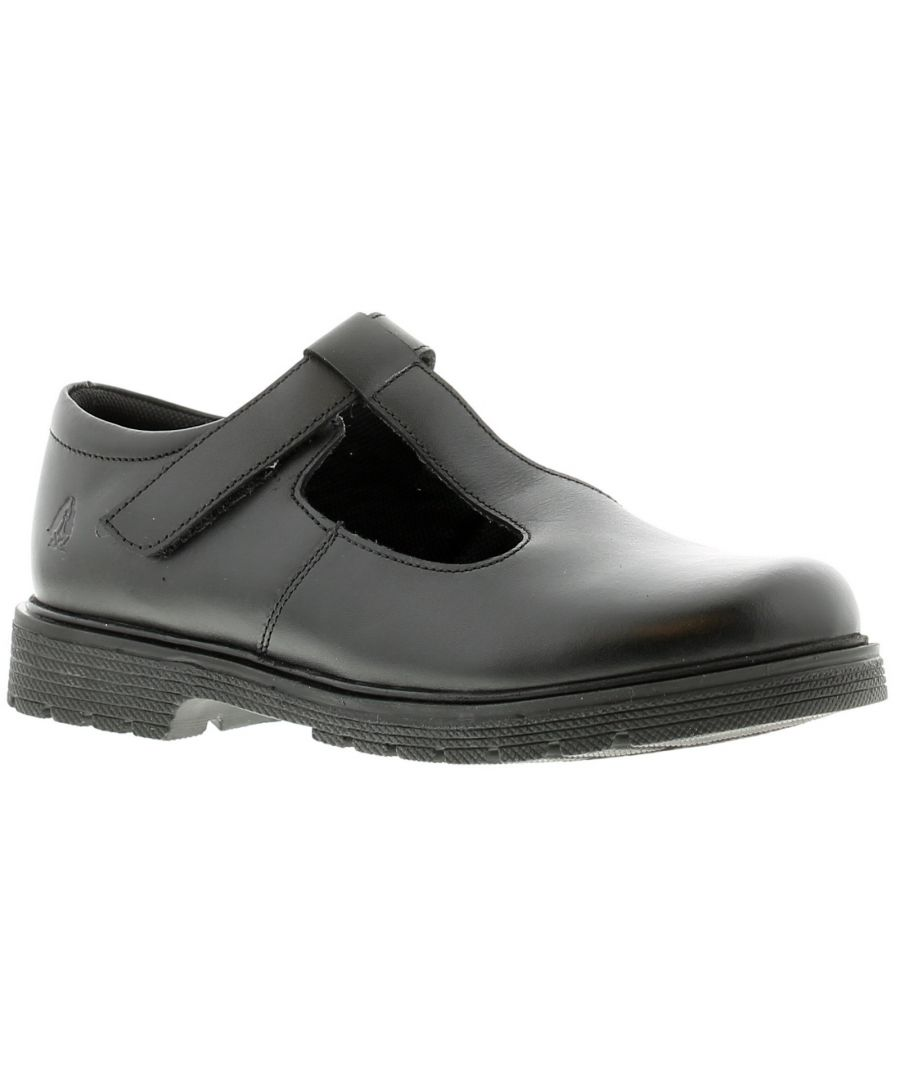 Image for Hush Puppies gracie leather Younger Girls Shoes black 9 - 2