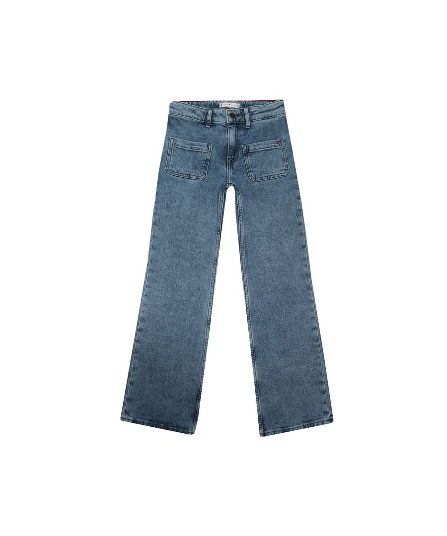 Image for Girls' Tommy Hilfiger Junior Slouchy Flared Leg Jeans in Denim