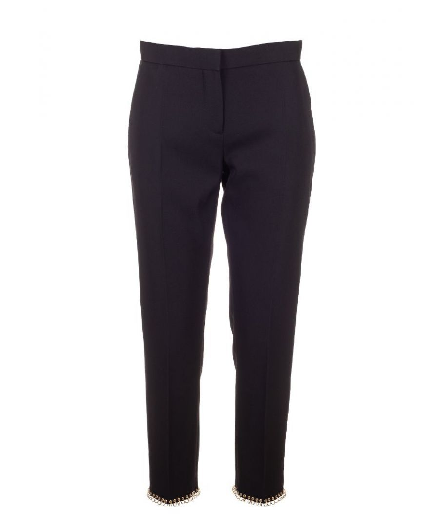 Image for BURBERRY WOMEN'S 8017148 BLACK WOOL PANTS