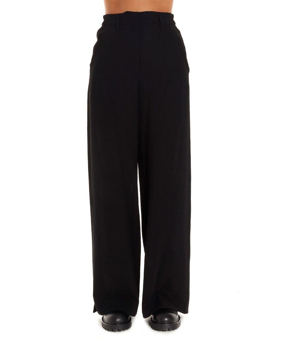 Image for ANN DEMEULEMEESTER WOMEN'S 19021416P170099 BLACK WOOL PANTS