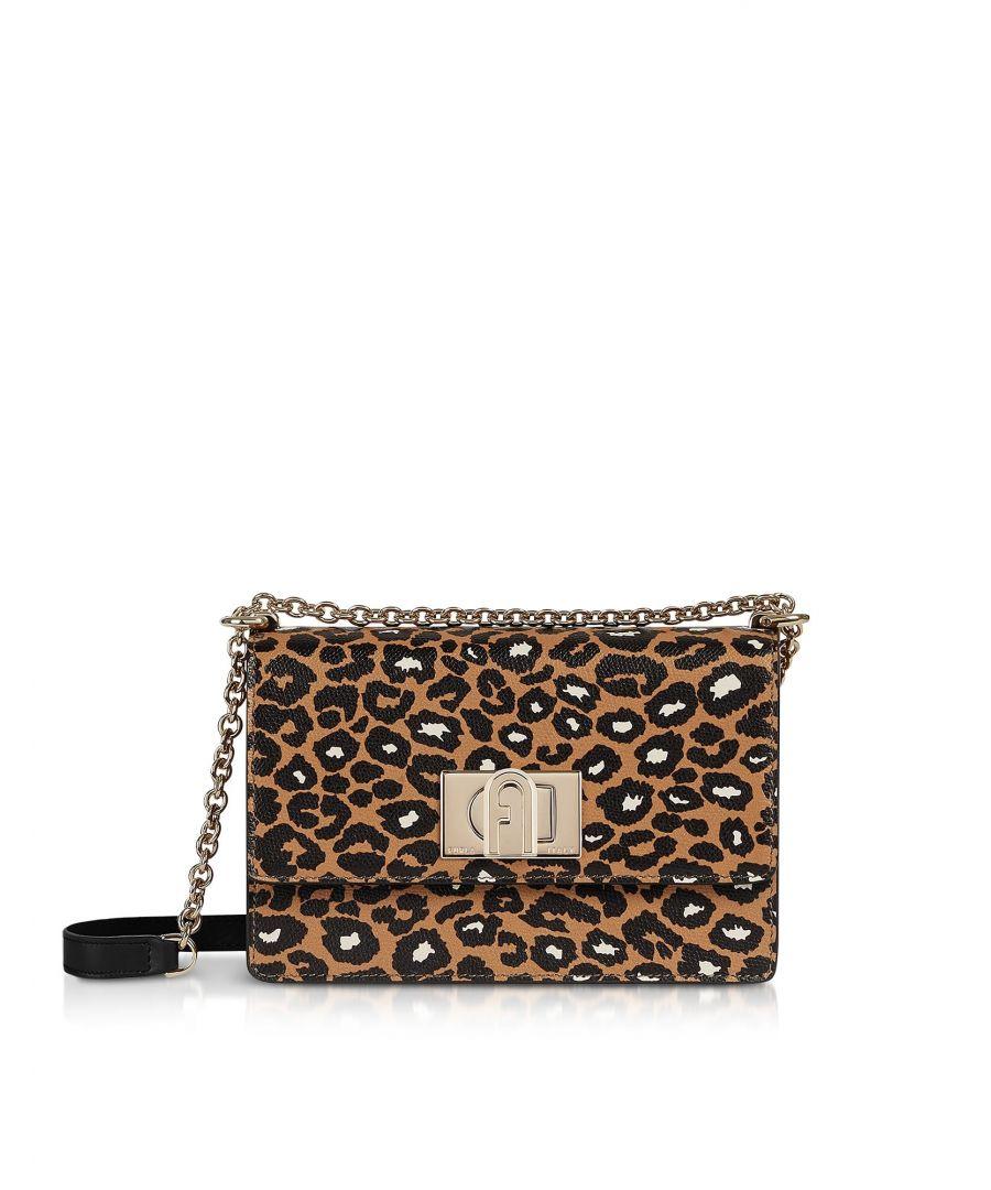 Image for FURLA WOMEN'S 1048388 BROWN LEATHER SHOULDER BAG
