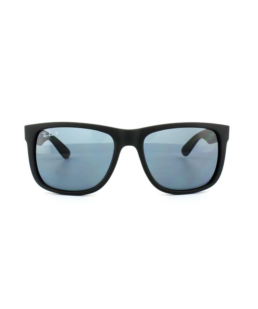 Image for Ray-Ban Sunglasses Justin 4165 622/2V Black Blue Polarized 55mm