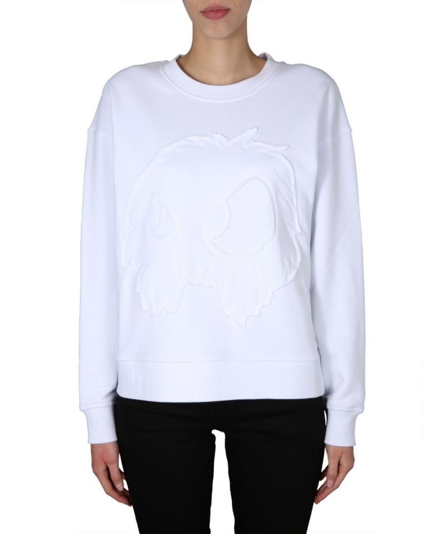 Image for MCQ BY ALEXANDER MCQUEEN WOMEN'S 577664ROH119000 WHITE COTTON SWEATSHIRT