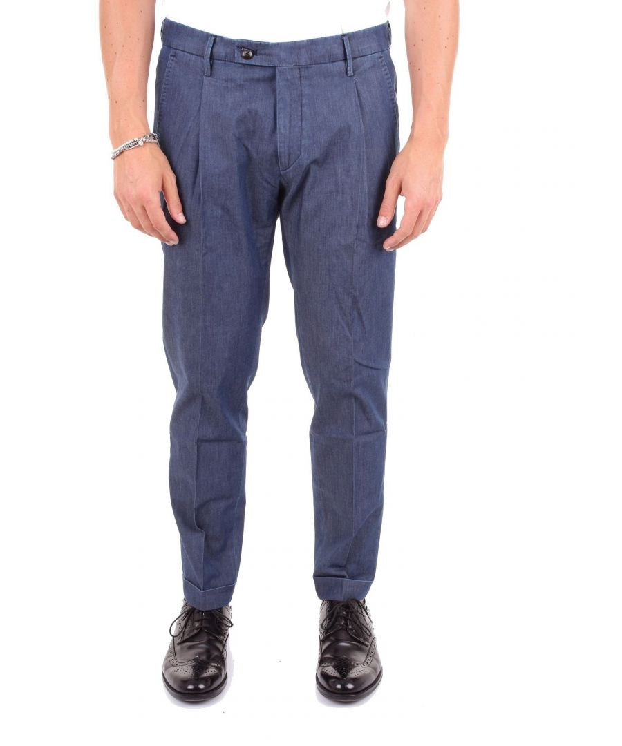 Image for MICHAEL COAL MEN'S FREDE1107CBLUE BLUE COTTON PANTS