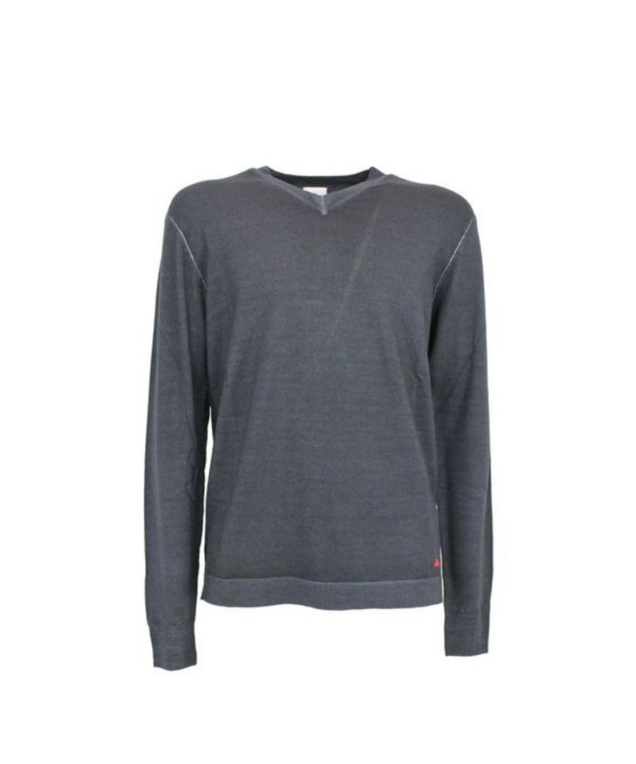 Image for PEUTEREY MEN'S PEU326999011920215 BLUE WOOL SWEATER