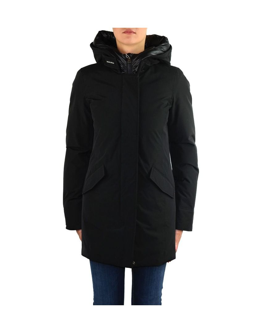 Image for WOOLRICH WOMEN'S WWCPS2769UT0001BLK BLACK COTTON DOWN JACKET