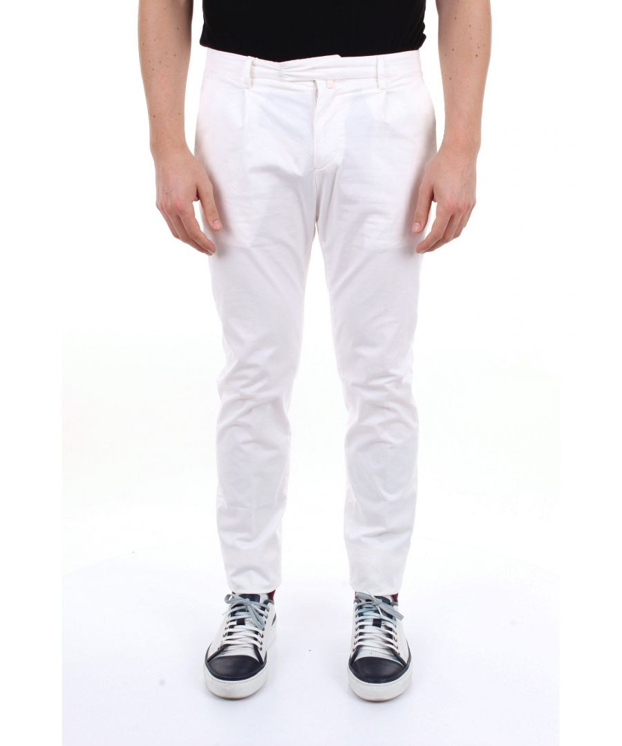 Image for BRIGLIA 1949 MEN'S BG073908PANNA BEIGE COTTON PANTS