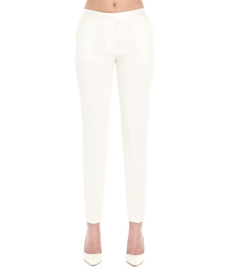 Image for THEORY WOMEN'S J1005202IVORY WHITE POLYESTER PANTS