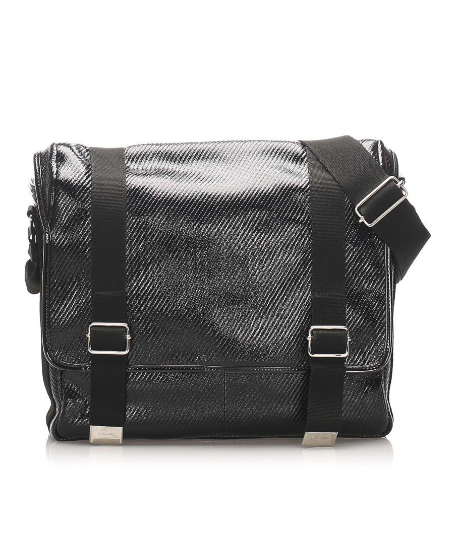 Image for Vintage Dior Pvc Crossbody Bag Black