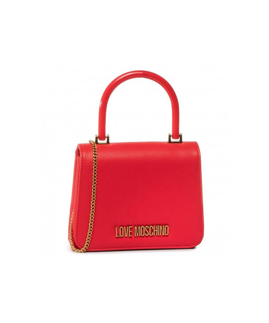 Image for Love Moschino Top Handle Flap Crossbody Bag in Red