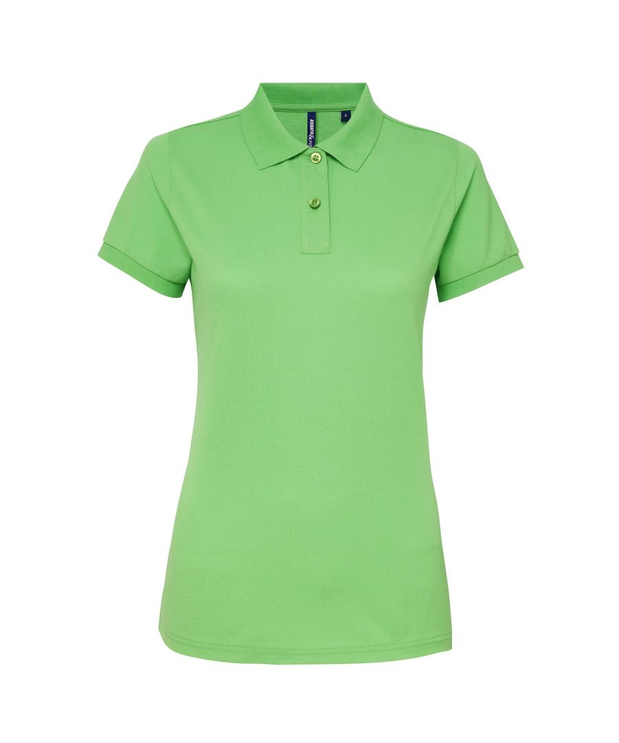 Image for Asquith & Fox Womens/Ladies Short Sleeve Performance Blend Polo Shirt (Lime)
