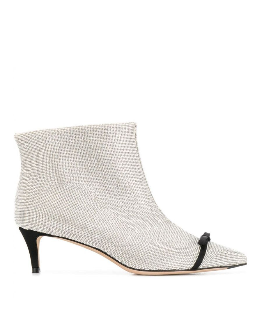 Image for MARCO DE VINCENZO WOMEN'S MXV107A02UF102F SILVER LEATHER ANKLE BOOTS