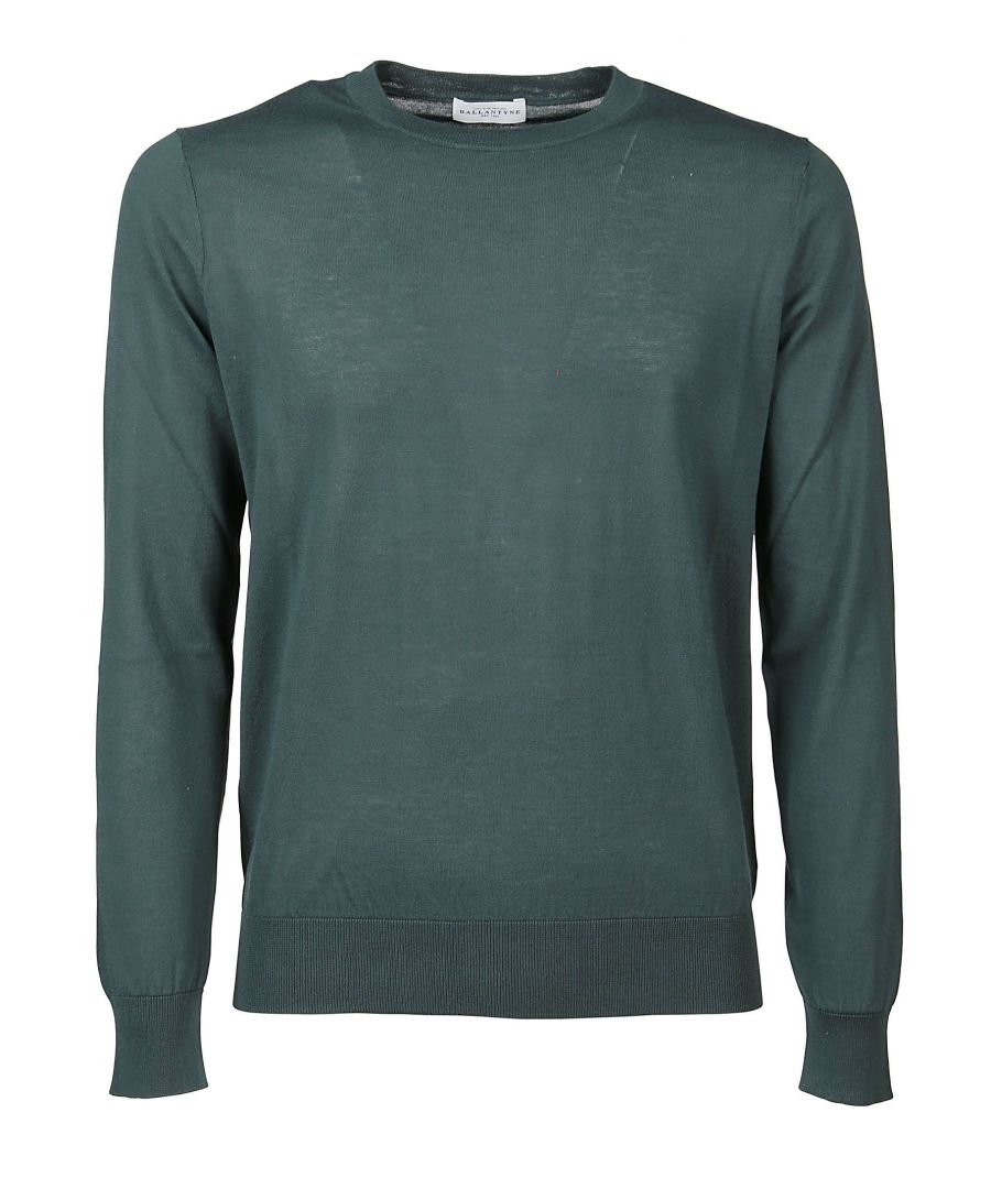 Image for BALLANTYNE MEN'S Q2P00018C2312587 GREEN COTTON SWEATER