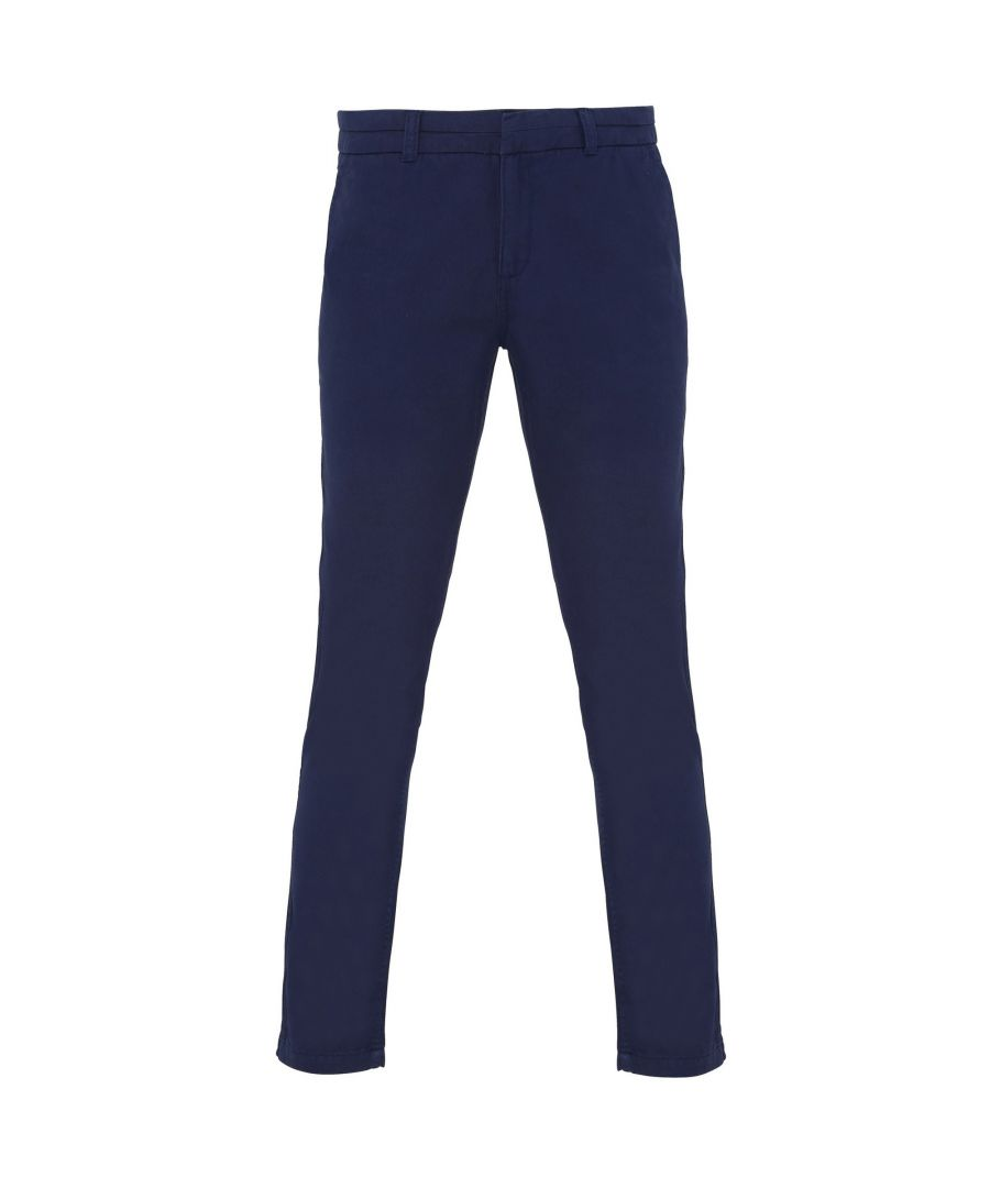 Image for Asquith & Fox Womens/Ladies Casual Chino Trousers (Navy)