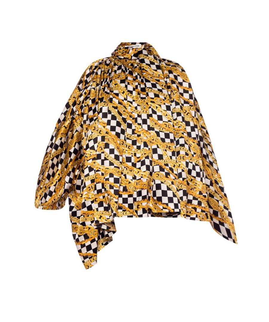Image for BALENCIAGA WOMEN'S 601961TGL101070 GOLD SILK BLOUSE