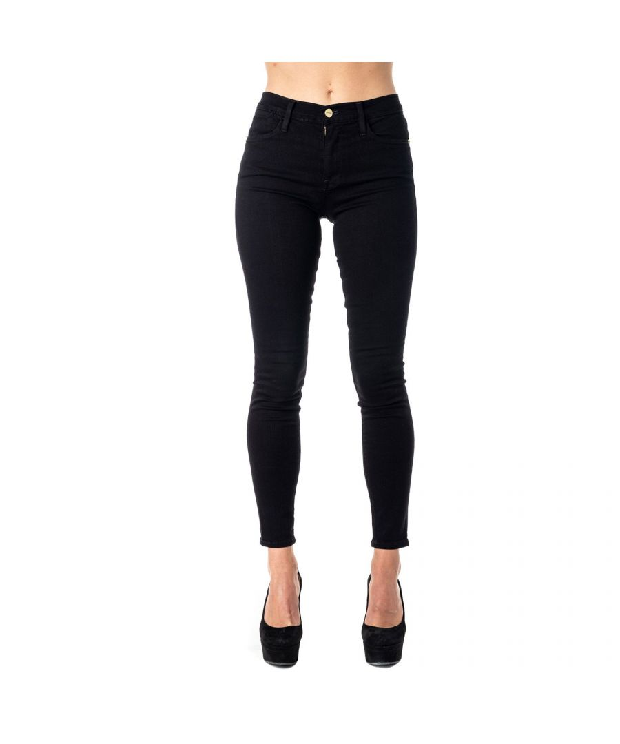 Image for FRAME WOMEN'S LHSK403FILMNOIR BLACK COTTON JEANS