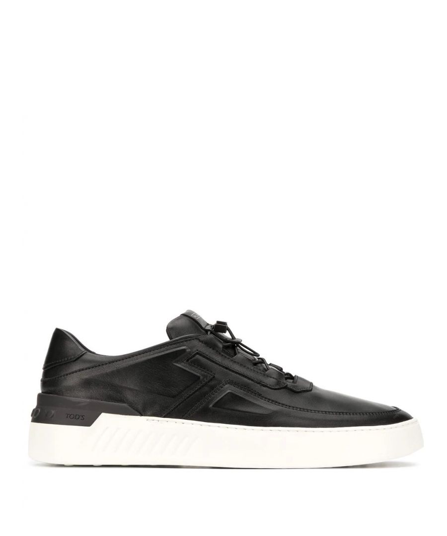 Image for TOD'S MEN'S XXM14C0CT10JUS9999 BLACK LEATHER SNEAKERS