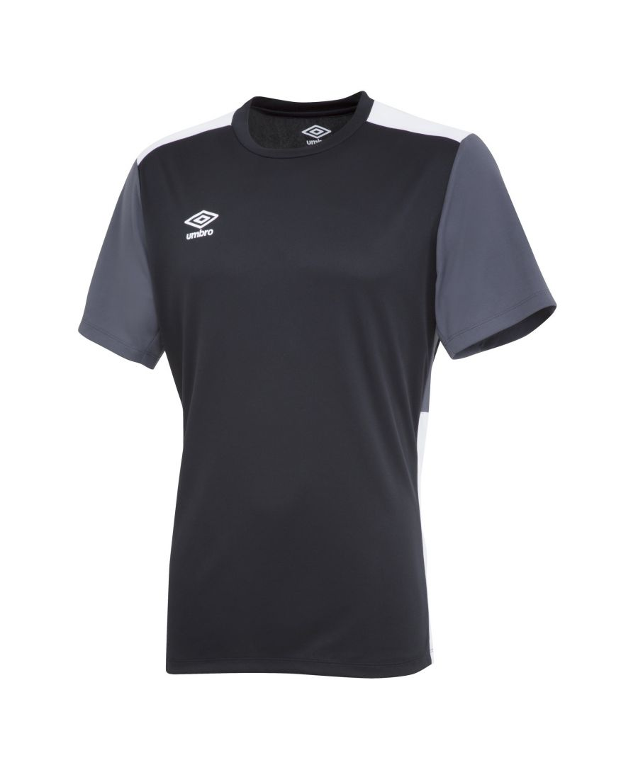 Image for Umbro Boys Polyester Training Jersey (Black/Carbon Grey/White)