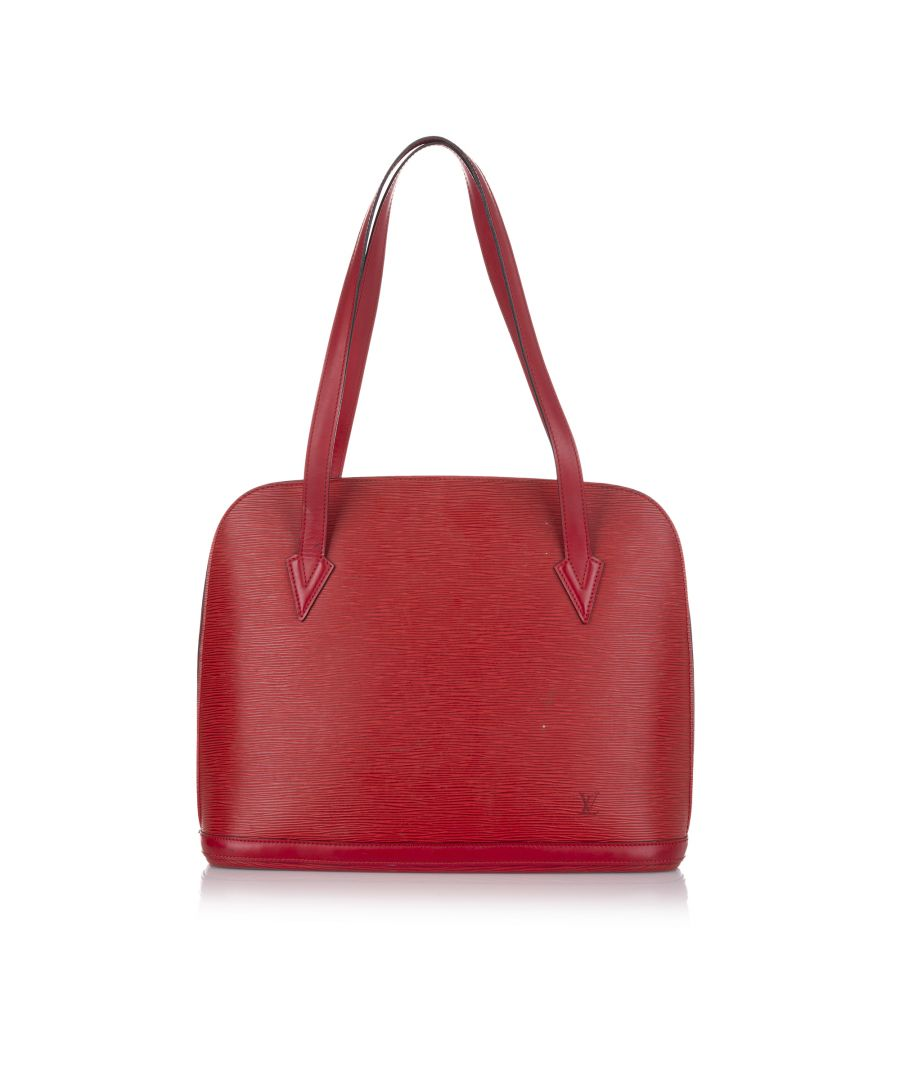 Image for Vintage Louis Vuitton Epi Lussac Red