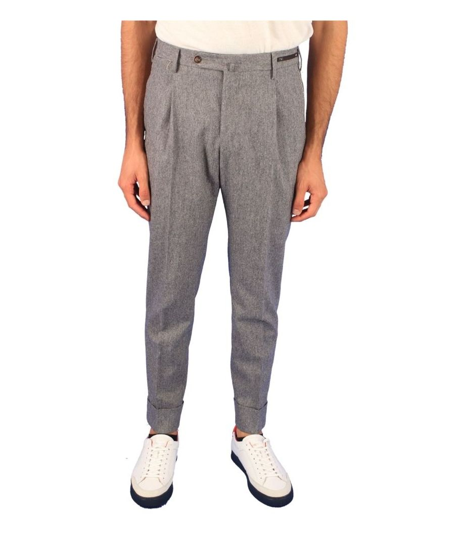 Image for PT01 MEN'S COAFFKZ10CL2230 GREY WOOL PANTS