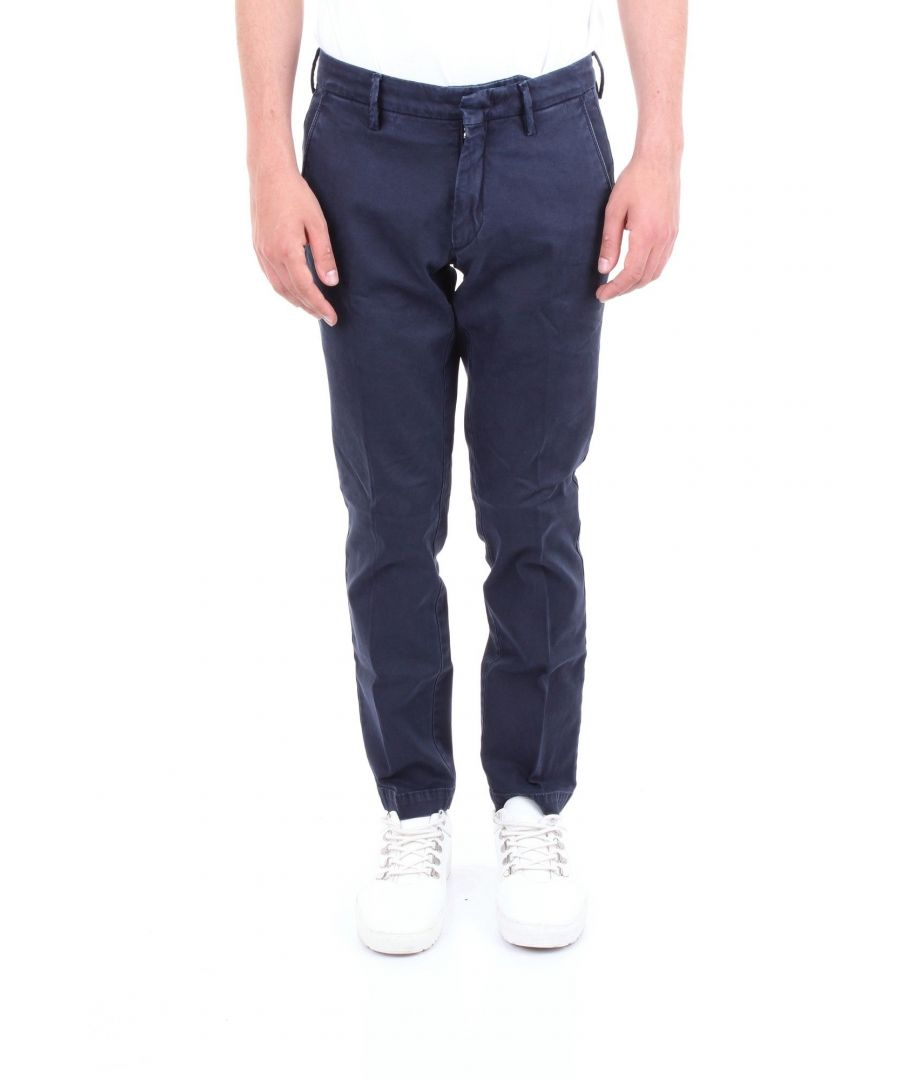 Image for MICHAEL COAL MEN'S BRAD2505CBLUE BLUE COTTON PANTS
